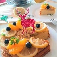 低カロリーで低脂質! 豆腐×チーズのキラキラChristmasケーキ☆